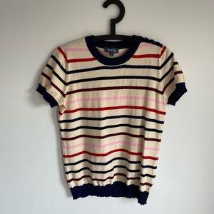 ModCloth striped short sleeve knit shirt